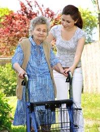 nursing home patient with walker