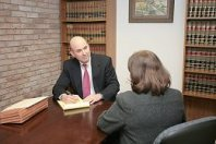 Medical malpractice client being interviewed